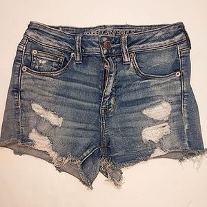 American Eagle | Distressed Hi-Rise Shortie - 4